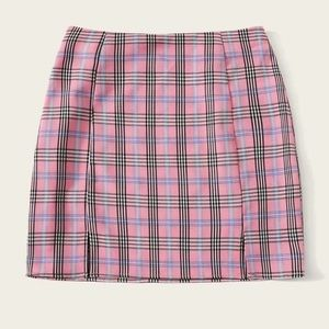Shein Pink Plaid Skirt
